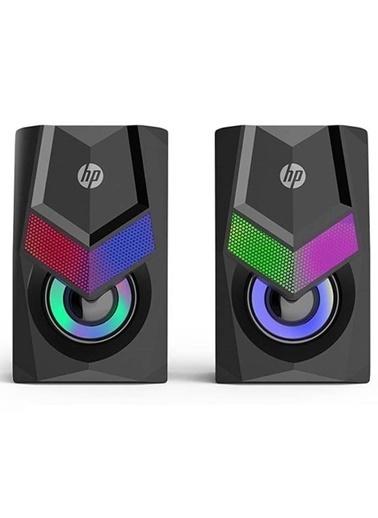 HP Hp Dhe-6000 Usb 1+1 Rgb Işıklı Ses Sistemi Hoparlör Pc Laptop Renkli